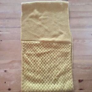 Accessories - Mustard Mixed Weave Knitted Infinity Loop Scarf